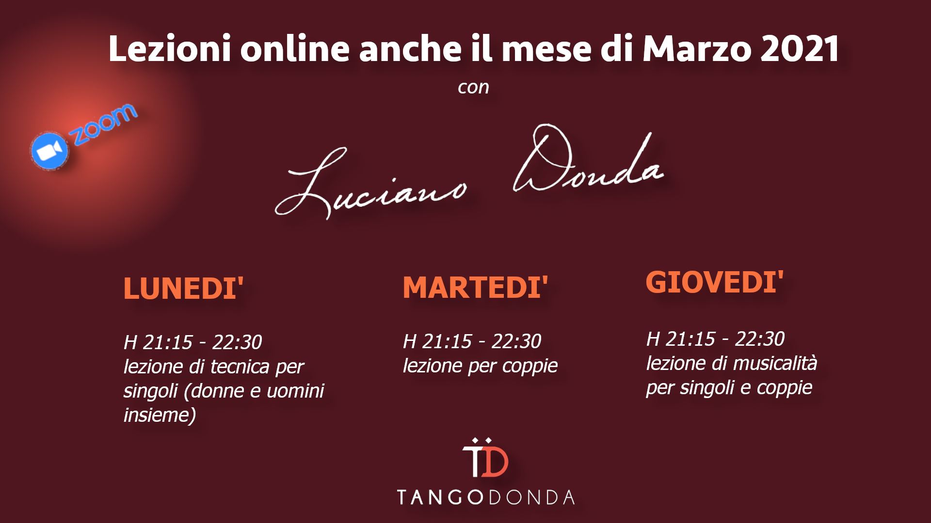 Tango argentino online marzo 2021
