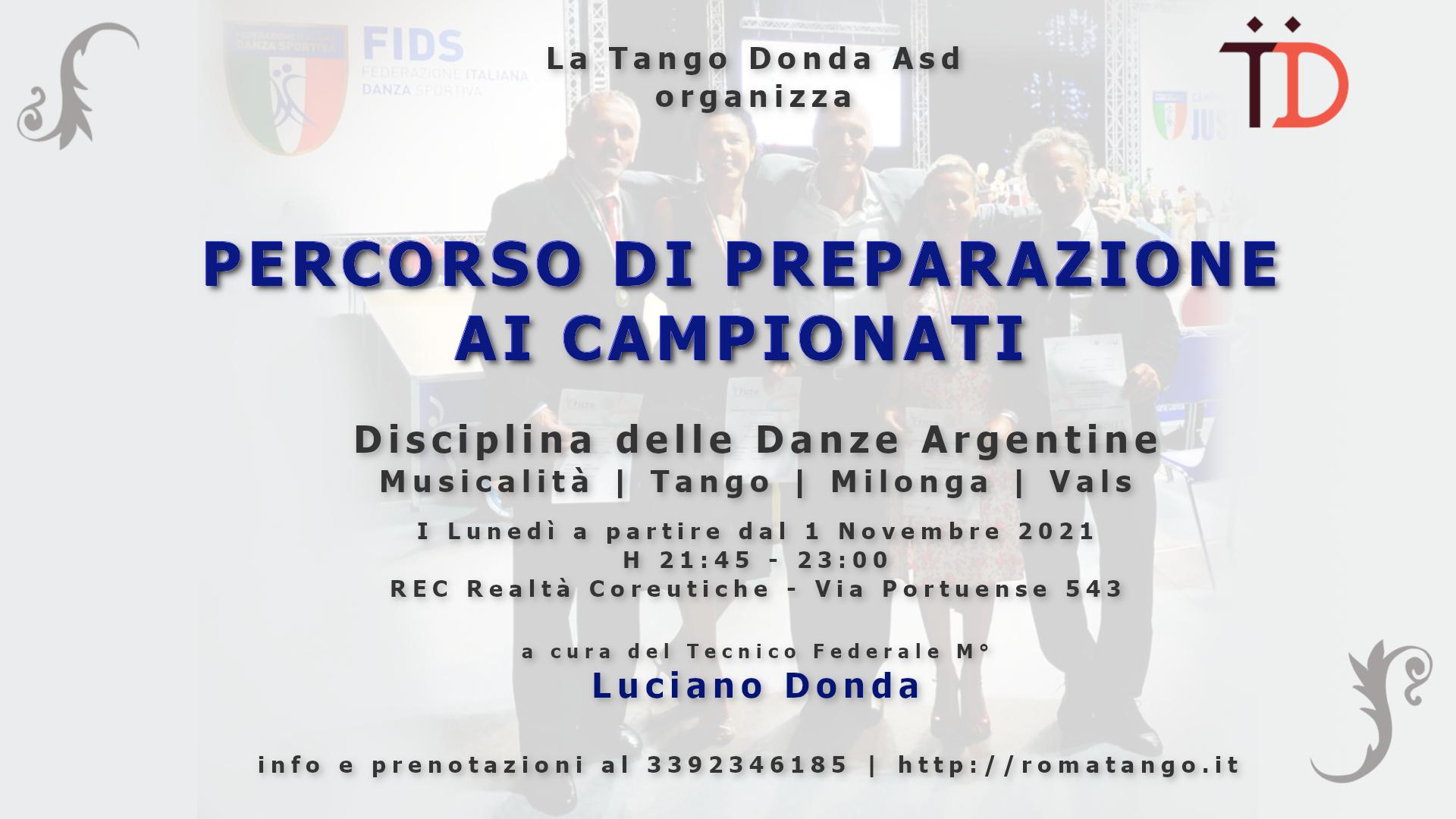 Preparazione ai campionati Danze Argentine con Luciano Donda